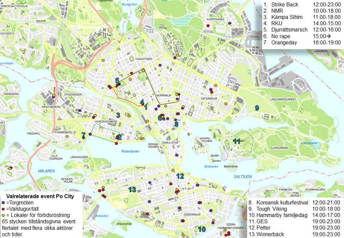 Det är en många event i Stockholm under lördagen.