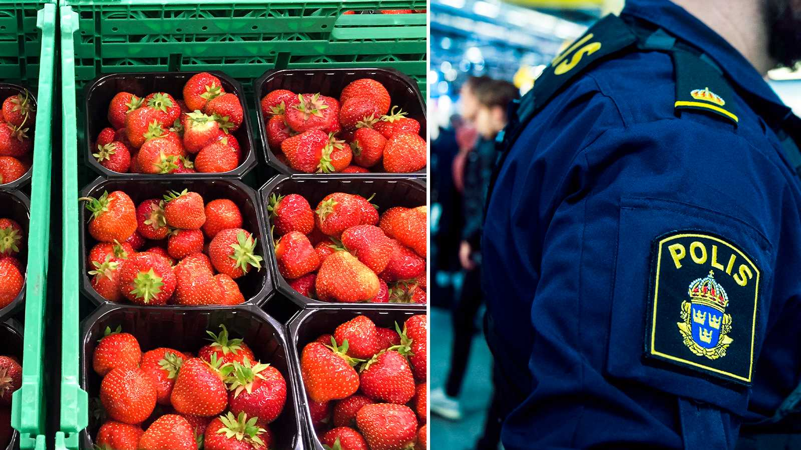 Polisinsats efter jordgubbskaos på riksväg