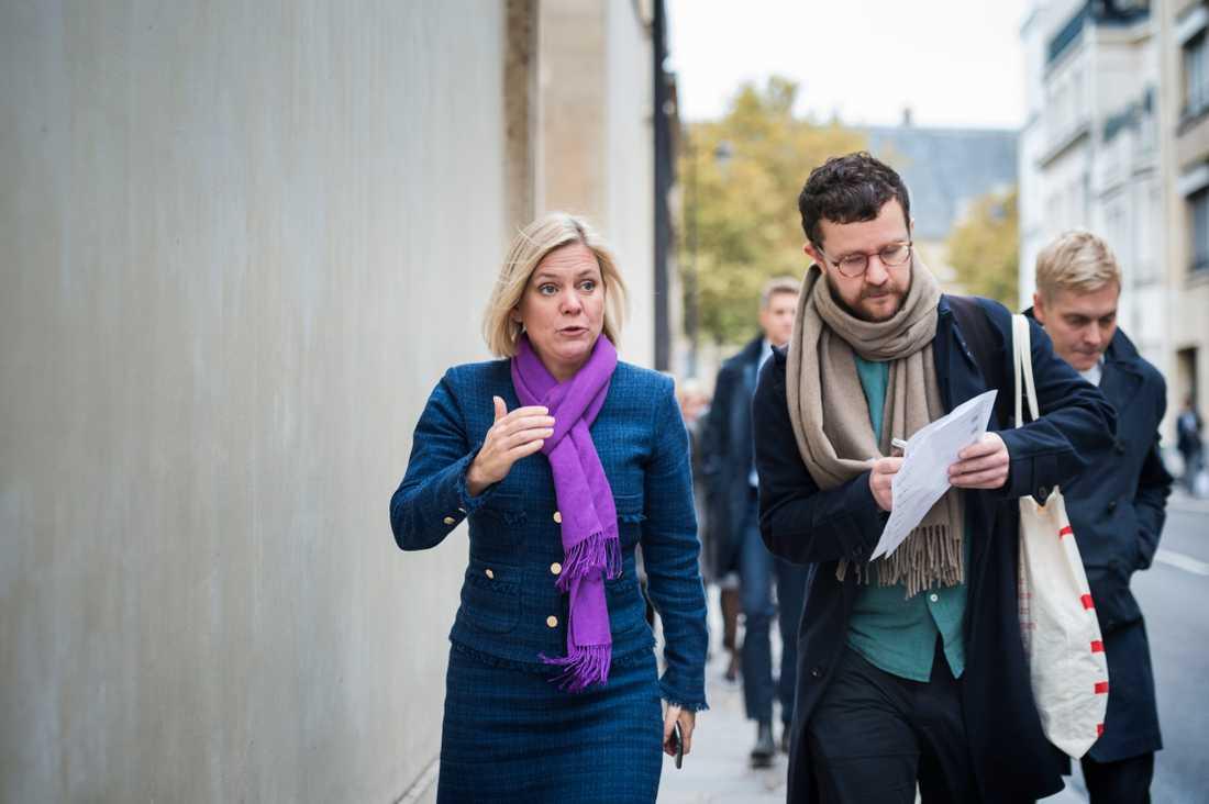 Aftonbladet träffade Magdalena Andersson i Paris tidigare i helgen.