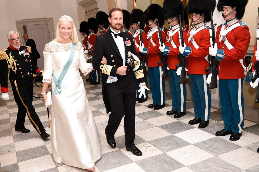 Norske kronprinsparet Haakon och Mette-Marit.