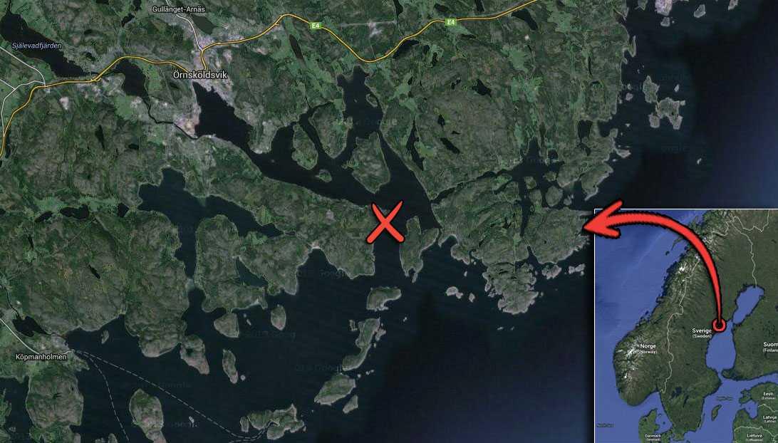Här utanför Örnsköldsvik inträffade båtolyckan.