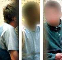 Inför domstolen i går De tre ungdomarna som misstänks för mord häktades i går vid Stockholms tingsrätt.