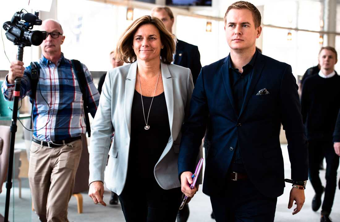 MP-språkrören Isabella Lövin och Gustav Fridolin.