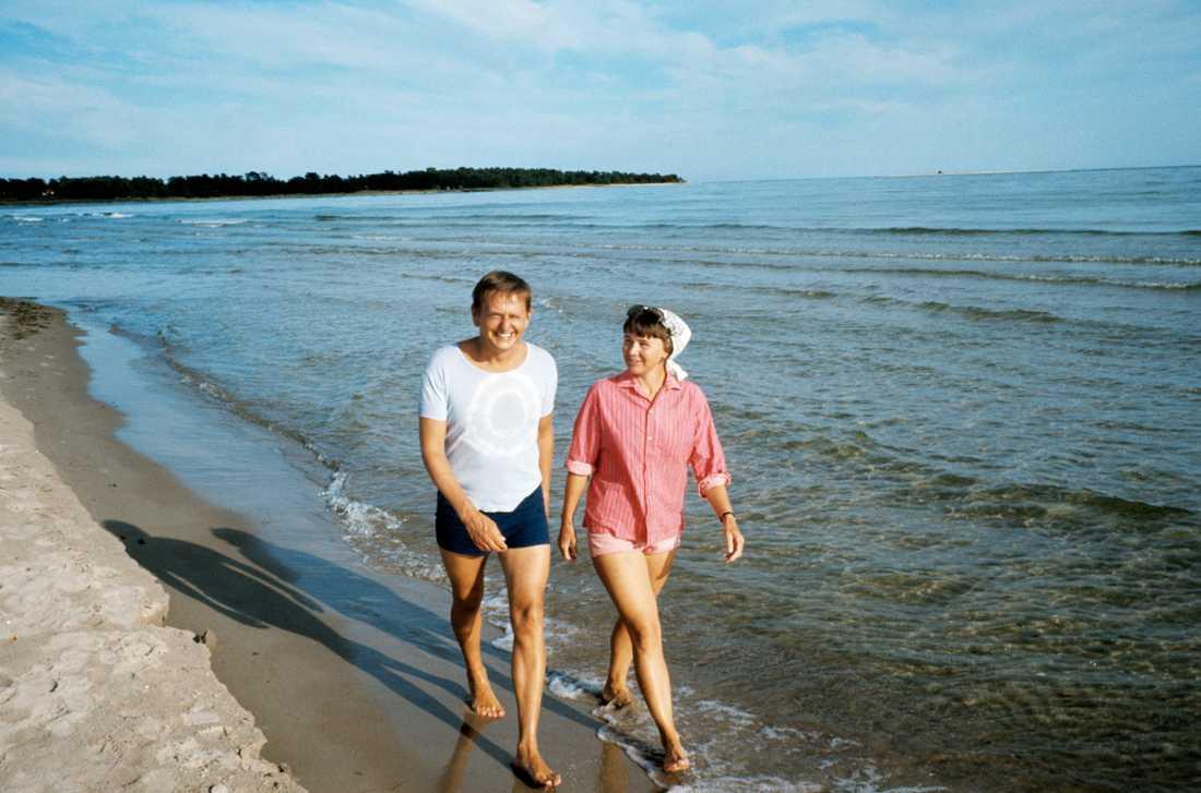 Olof och Lisbeth Palme, 1973.