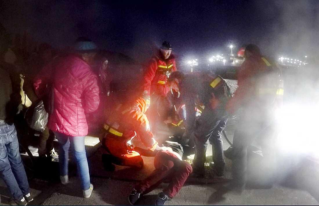 Totalt 117 personer räddades.
