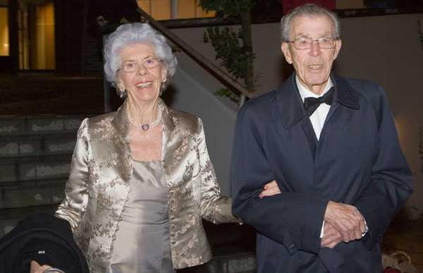 Greve Carl Johan Bernadotte af Wisborg och hans fru Gunnila.