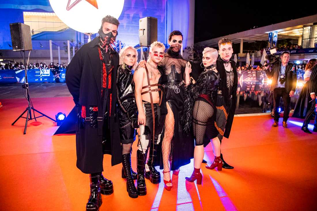 Hatari under Eurovision song contests invigning