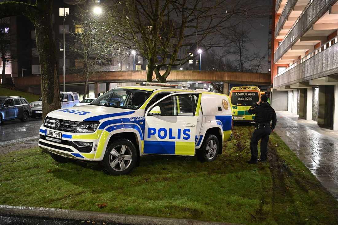 Ett stort pådrag med poliser, hundpatruller och ambulanser befann sig i Tensta på tisdagskvällen.