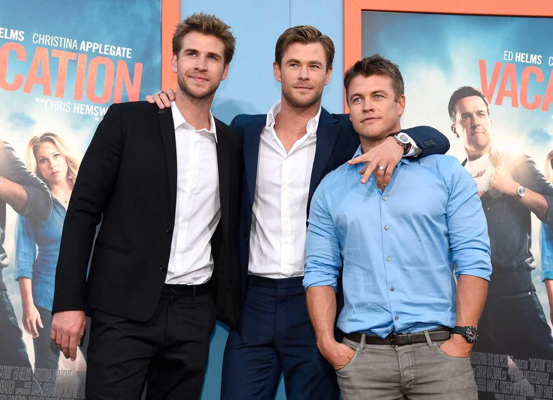Liam, Chris och Luke Hemsworth, som la upp bilden.
