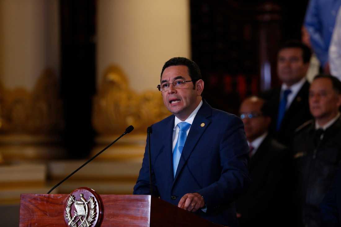 Guatemalas president Jimmy Morales meddelade på måndagen att Guatemala kommer att stoppa Cicigs mandat i landet.