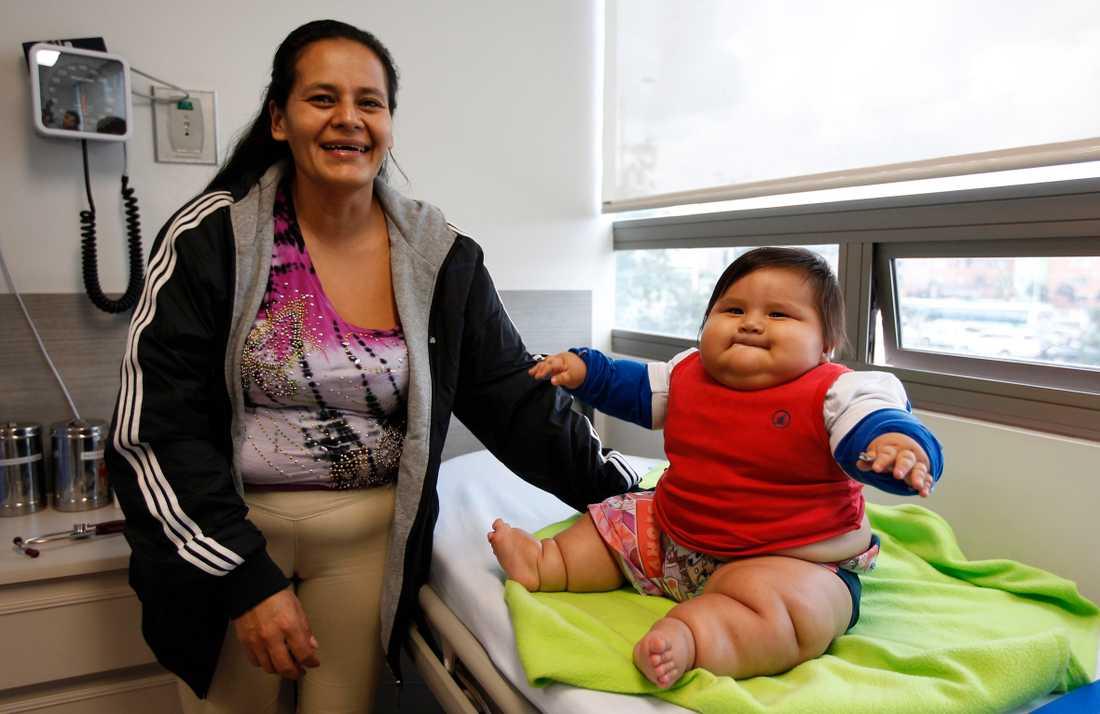 Eunice Fandino är glad att hennes son nu ska få hjälp mot sin övervikt.