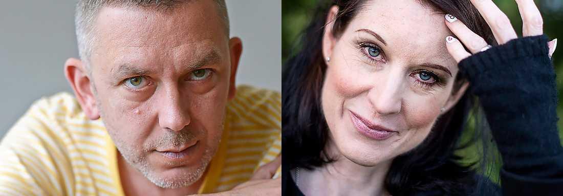 Andres Lokko, nöjes- och kulturjournalist samt Linda Skugge, krönikör och författare.