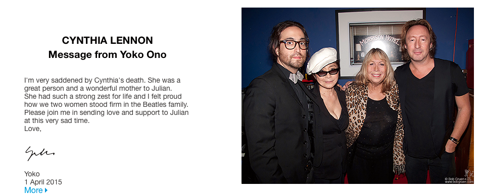 Yoko Onos hyllning.