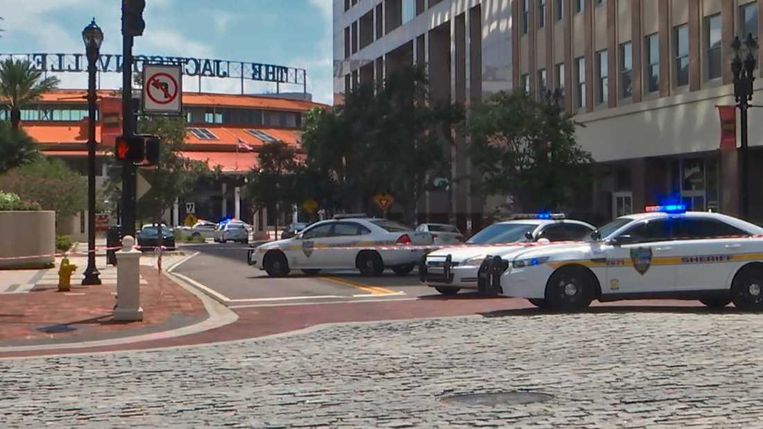 Tolv skott hörs i videoklippet från livesändningen.