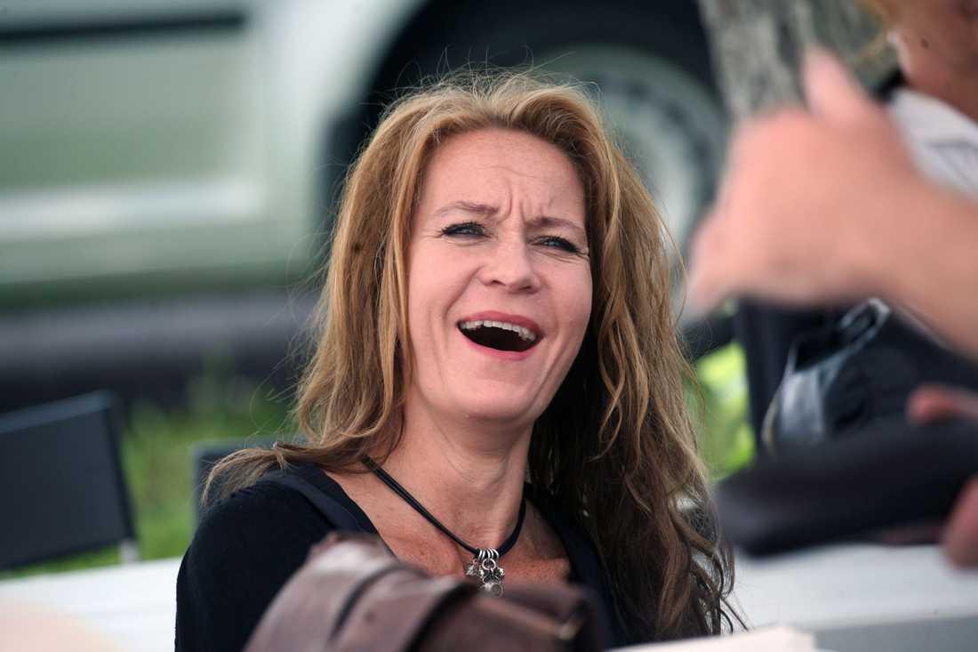 Maria Lundqvist är ny i filmserien, som hustru till Per-Ove.