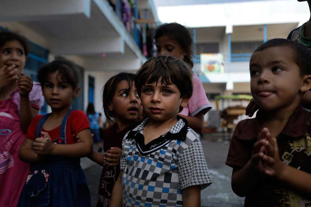 Barn i Gaza.