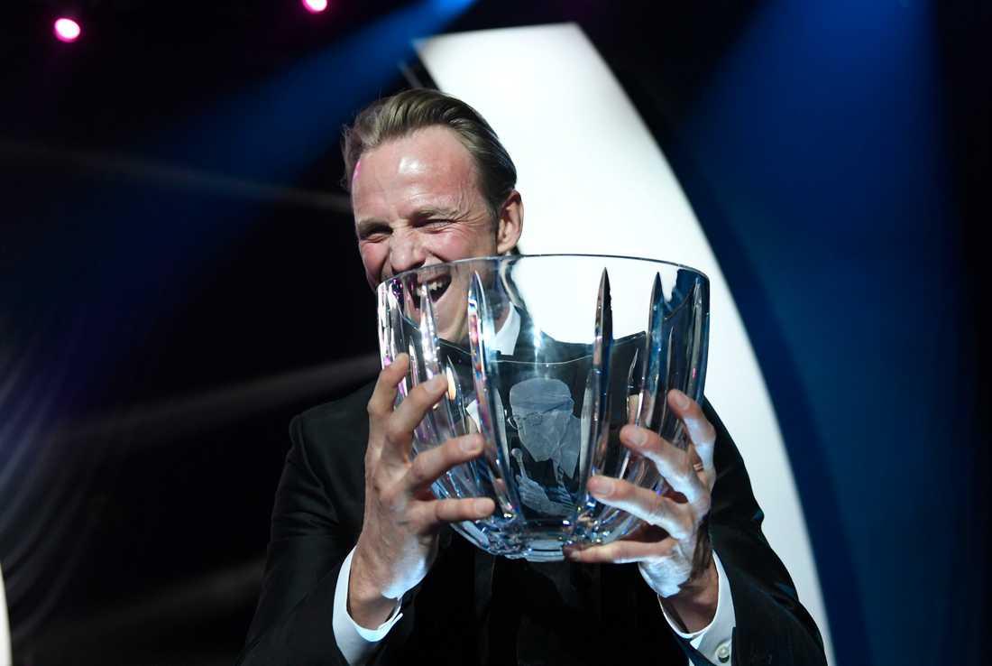 Peder Fredricson skrällde när han tog emot Jerringpriset 2017. Ryttaren tog emot priset även året därpå.