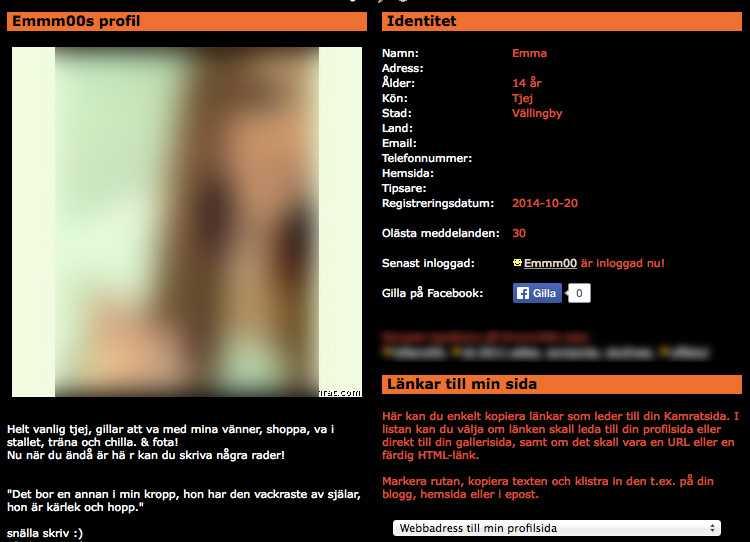 32abeecbcf50 Hon får snabbt kontakt med flera män som vill ha sex med henne.
