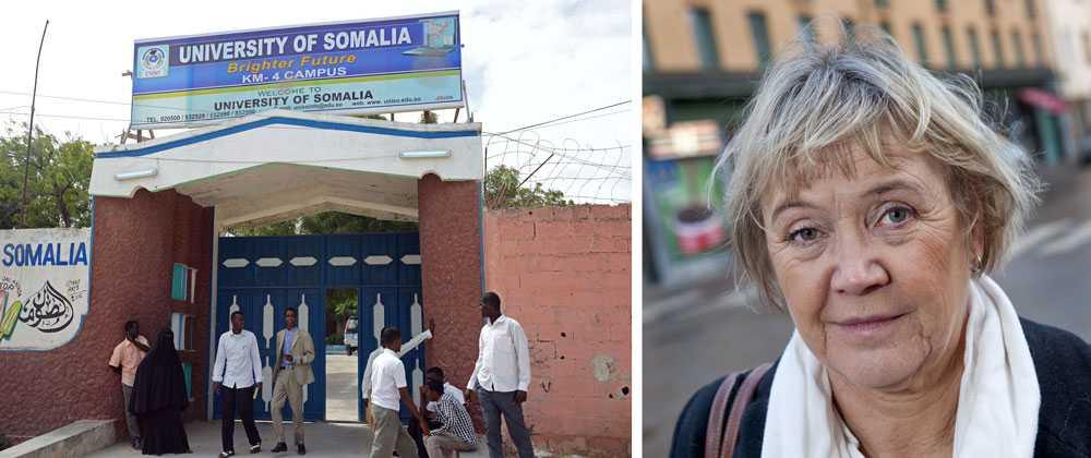 Ann-Margarethe Livh (V) vårdas på sjukhus efter att ha blivit beskjuten i Mogadishu.