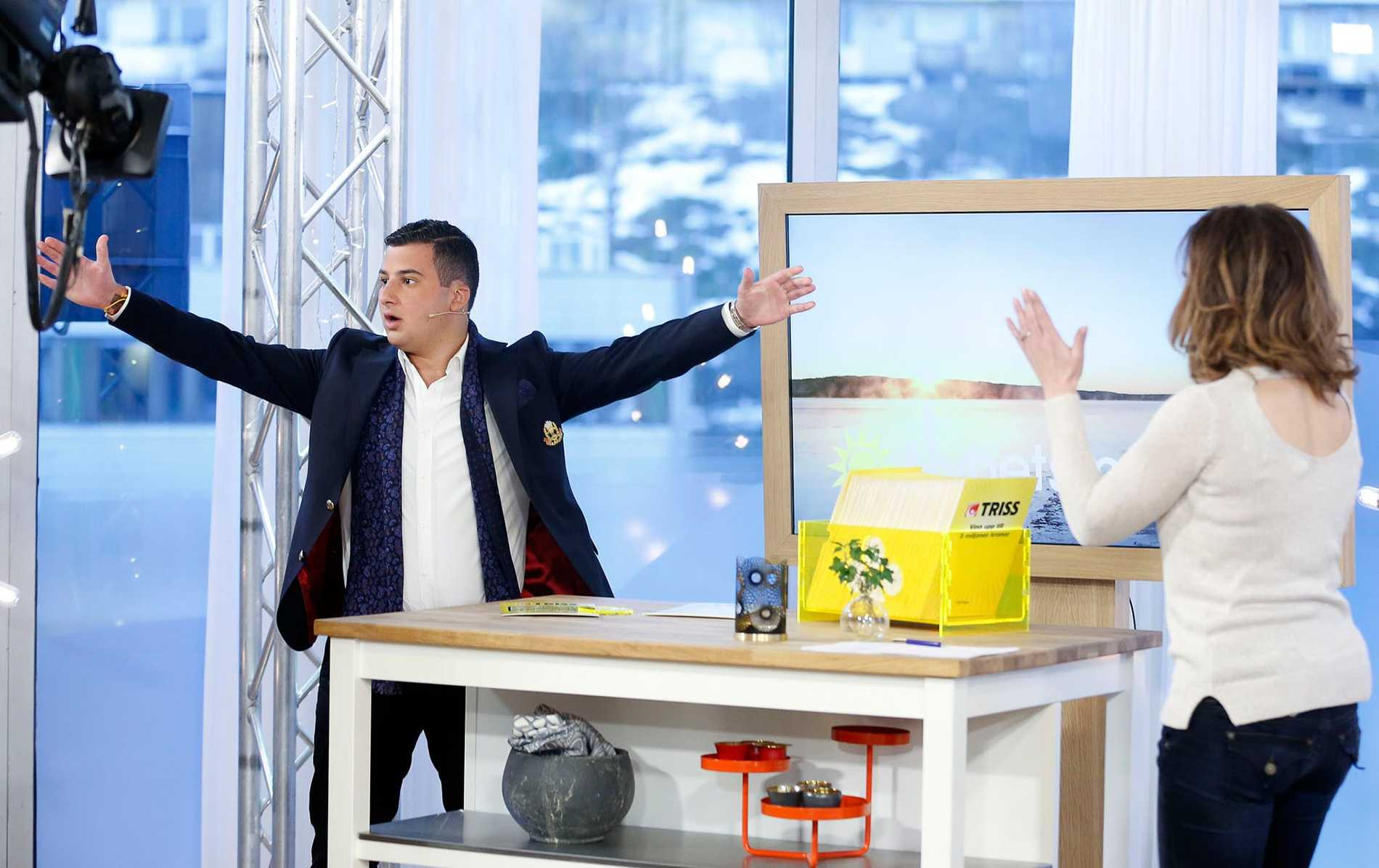 Jubel utbröt i TV4-studion när Mattias Aziz Luksel skrapade hem fem miljoner.
