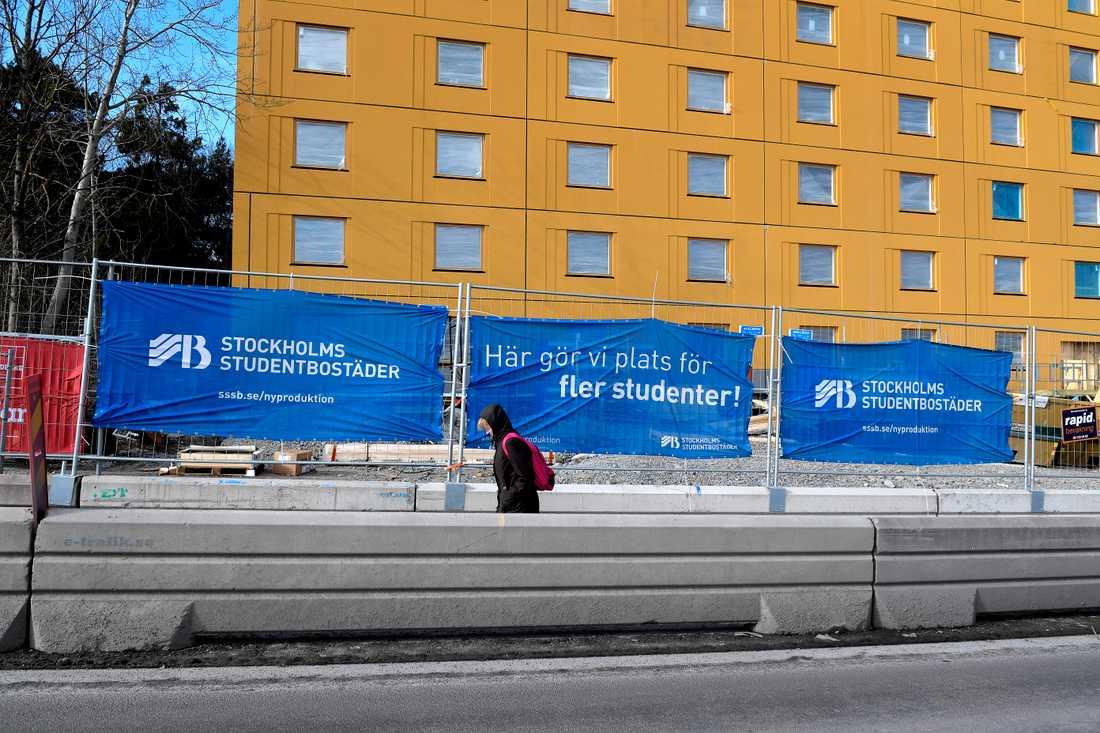 Nya studentbostäder byggs i Huvudsta, Solna. Arkivbild.