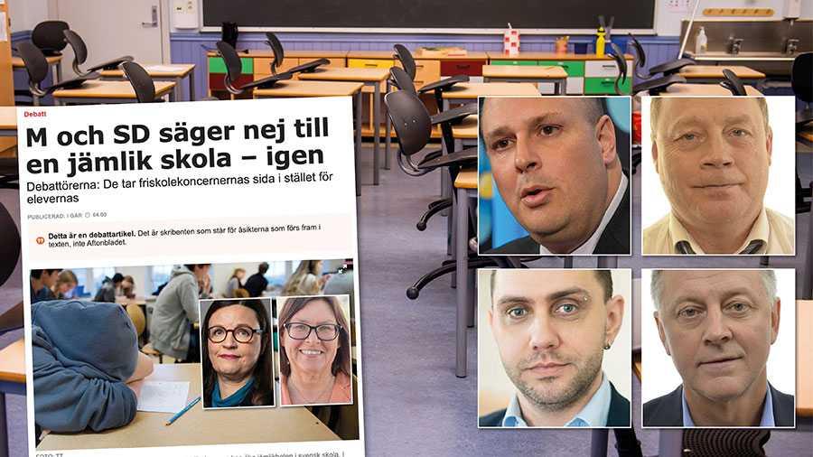 Ja, skolor i utsatta områden behöver mer pengar, men vi behöver också vidtaga en lång rad åtgärder för att dessa skolor skall bli trygga platser för eleverna med studiero. Replik från Sverigedemokraterna.