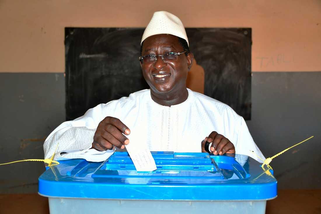 Oppositionsledaren Soumaila Cissé under presidentvalet i fjol. Arkivbild.
