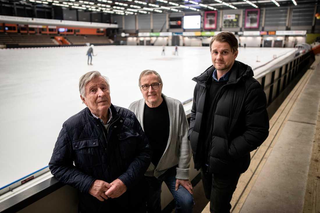 """Harry Ahlén, Göran """"Fiskarn"""" Johansson och David Karlsson."""