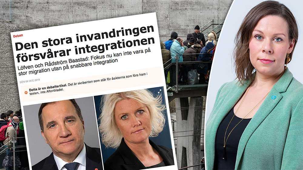 Ödmjukhet och tydlighet – inte vacklande – vore på sin plats från Löfven och Rådström Baastad. Därför ser jag fram emot en slutreplik där de svarar på frågan: Hur stor kan invandringen till Sverige vara, skriver Maria Malmer Stenergard (M).