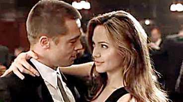 Pitt och Jolie är ett gift par i filmen.