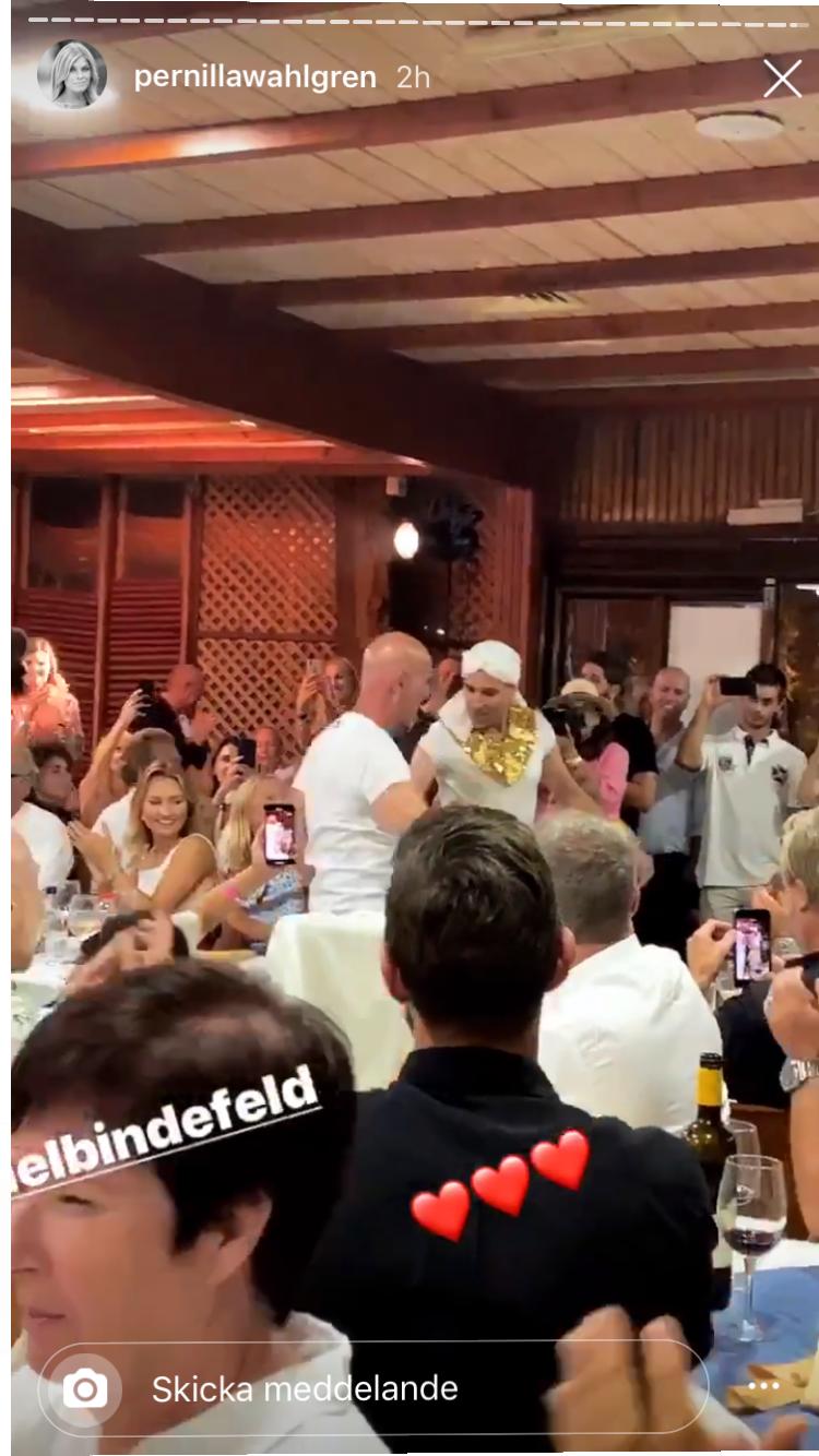 Ebba Busch Thor på Bindefelds fest.