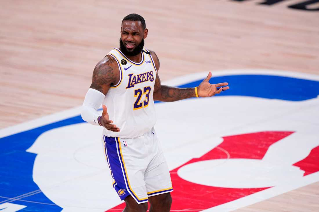 LeBron James i Los Angeles Lakers. Arkivbild.