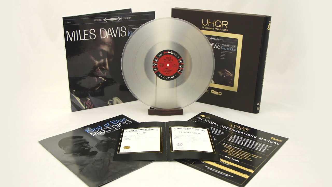 """UHQR-versionen på vinyl av Miles Davis """"Kind of blue""""."""