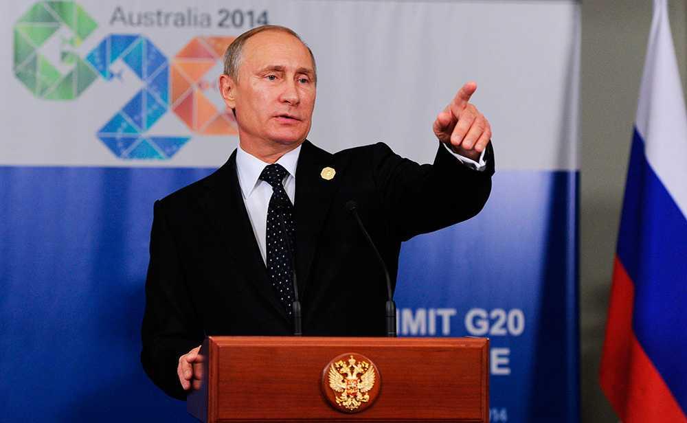Nu ser vi hur ett imperialistiskt Ryssland ger sig på sina grannar, vi ser hur säkerheten i vår världsdel gungar.