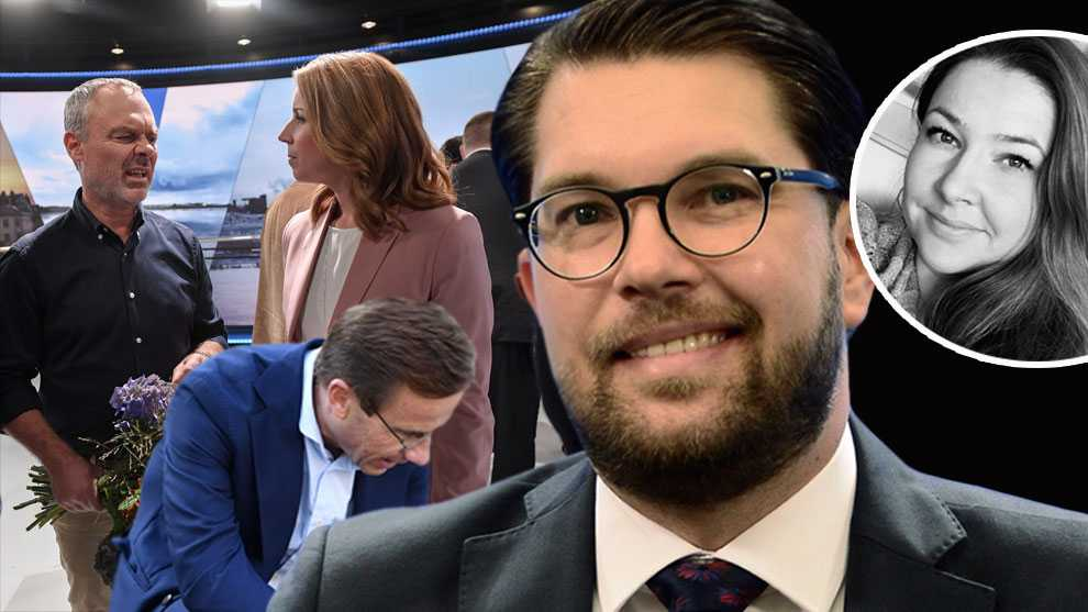 Att kröka rygg för Jimmie Åkesson och låta SD få inflytande över regeringspolitiken vore ett alldeles för högt pris att betala, skriver den liberala debattören Malin Lernfelt. Bilden är ett montage.