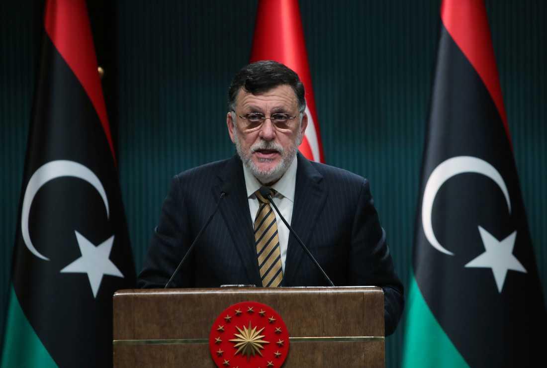 Fayez al-Sarraj leder Libyens regering i Tripoli. Arkivbild.