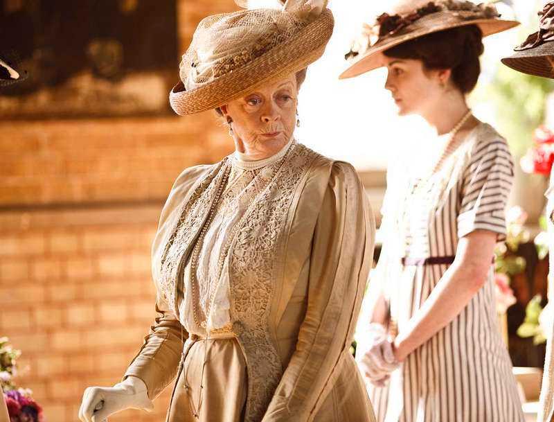 """Maggie Smiths karaktär som änkegrevinnan Violet Crawley i """"Downton Abbey""""."""