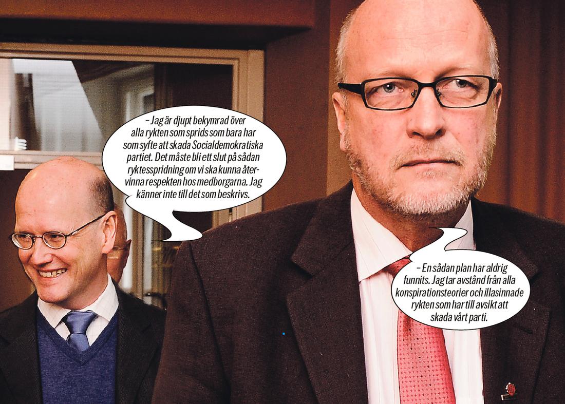 ÖSTROS SKULLE LEDA  Enligt S-källor ingick både Thomas Östros och Sven-Erik Österberg i den hemliga gruppering som la planen för Juholts avång.