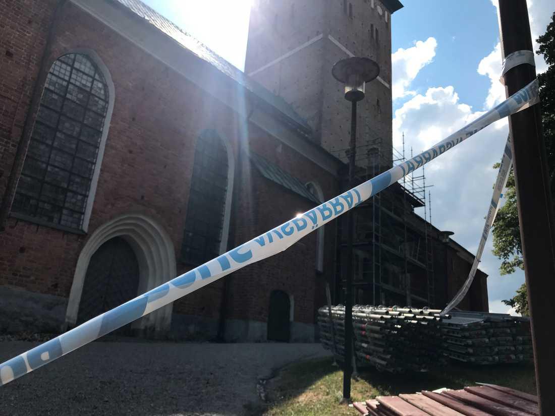 Domkyrkan i Strängnäs har utsatts för en stöldkupp.