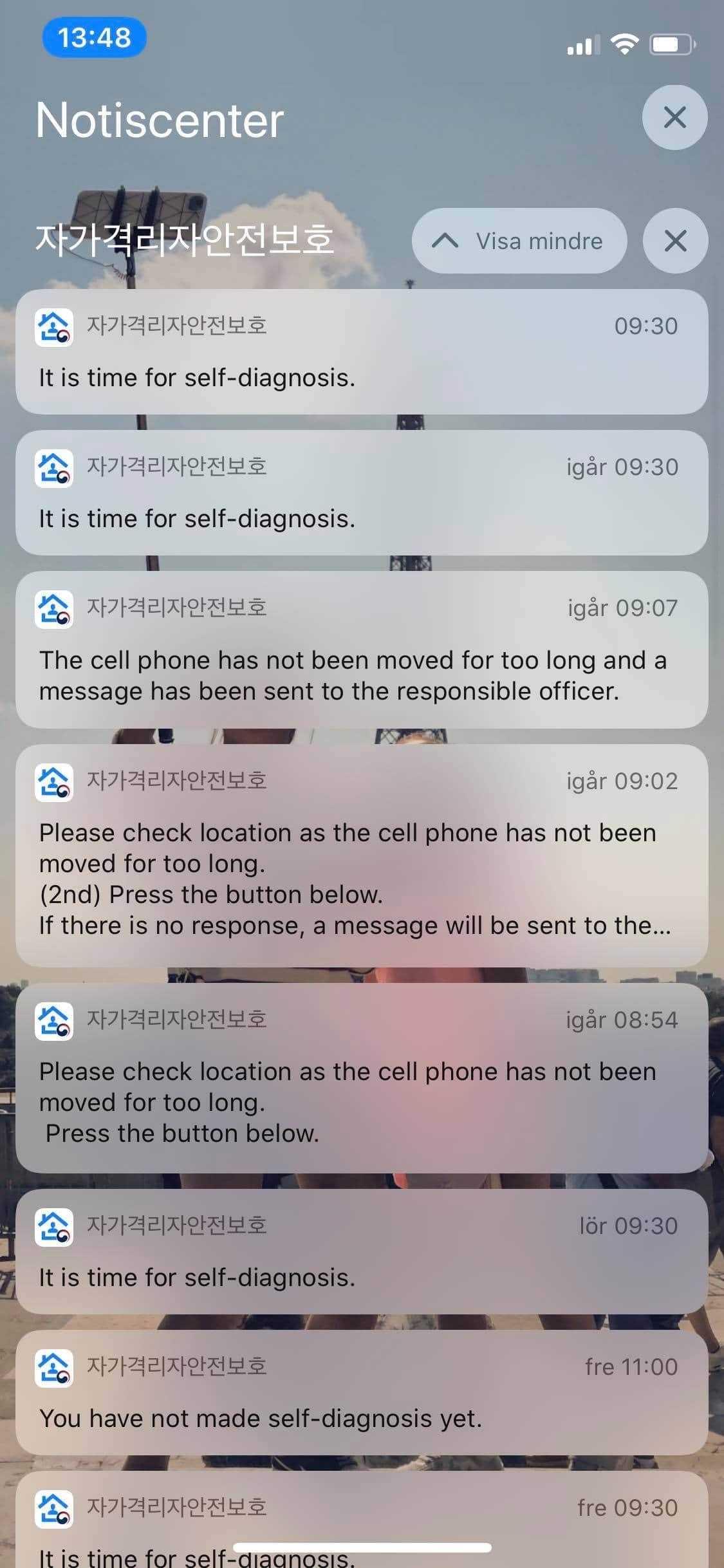 Om telefonerna ligger stilla för länge på samma plats reagerar myndigheterna.
