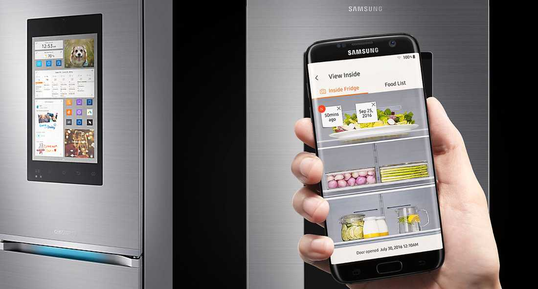 Med Samsungs Family Hub kan du se vad som finns i kylen, hålla koll på scheman och streama musik.