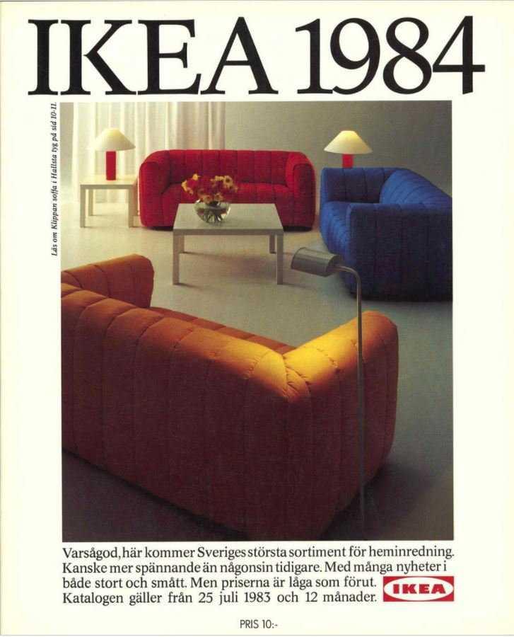 Ikeakatalogen från 1984.