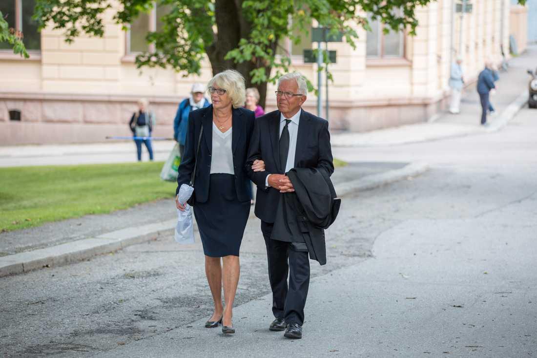 Kristdemokraternas tidigare partiledare Alf Svensson med fru Sonja.