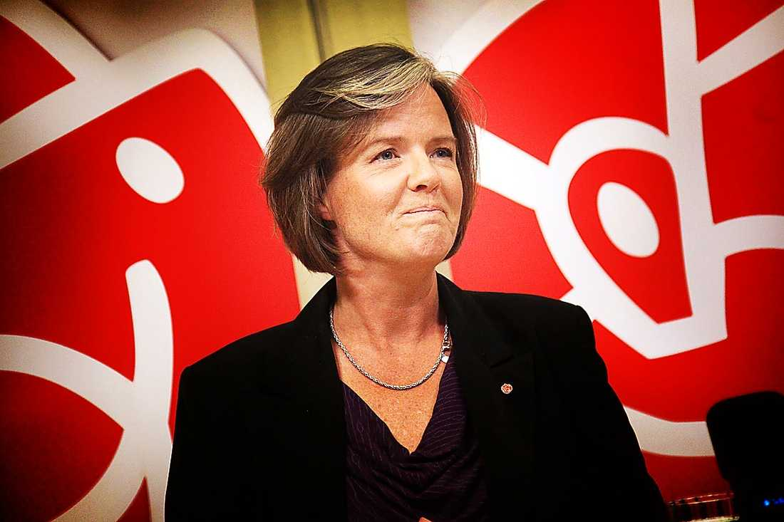 Carin Jämtin, 47, partisekreterare: Storstads-sosse som inte är jättesmittad av falangstriderna, men ligger åt vänster.