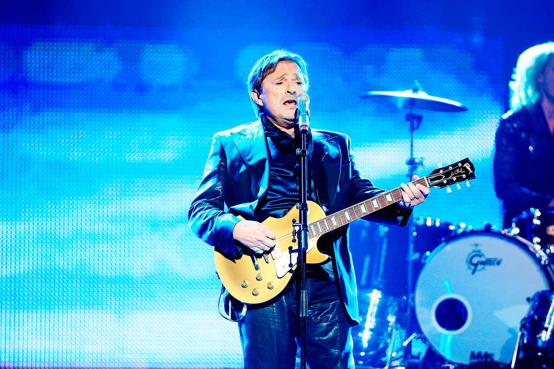 Mikael Rickfors under Melodifestivalen 2009.