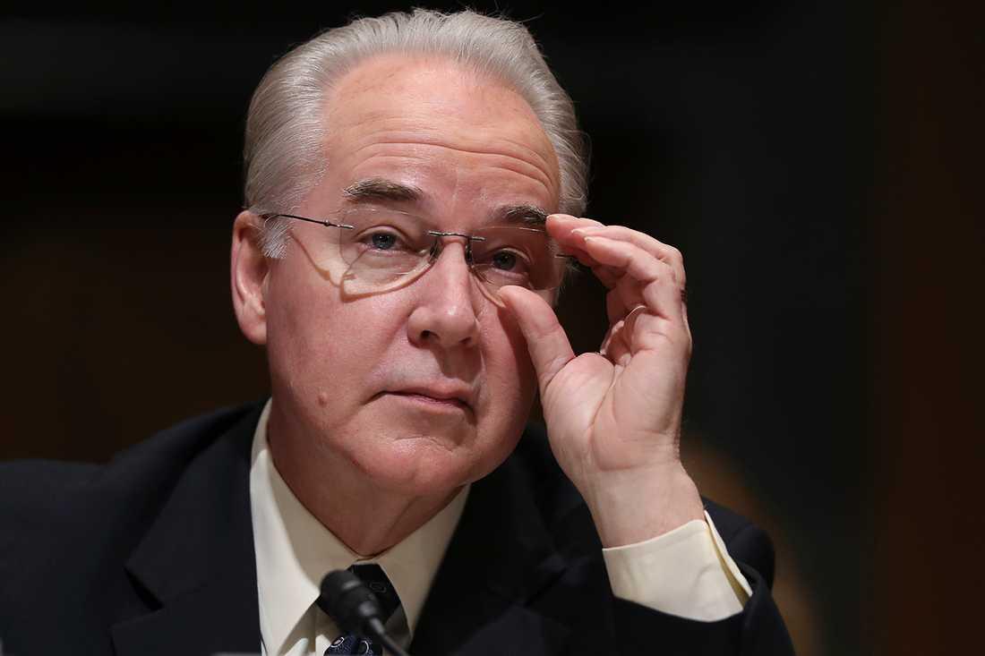 Tom Price godkändes som sjukvårdsminister i Trumps regering.
