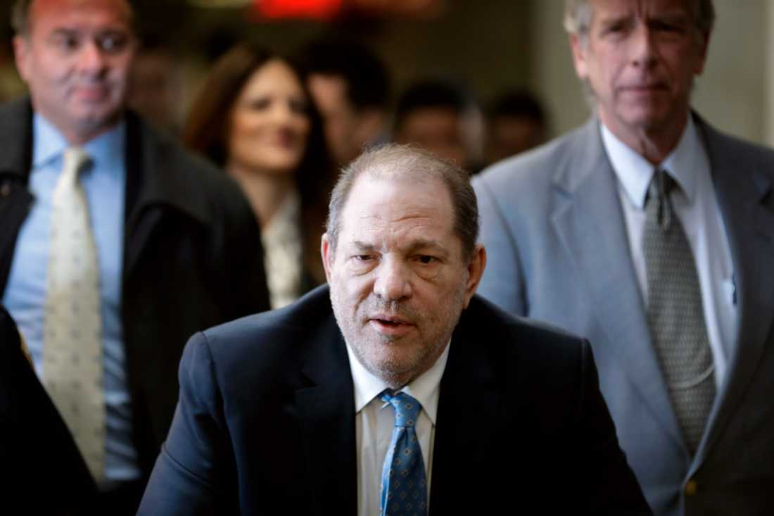 Filmmogulen Harvey Weinstein åtalas i två nya fall för våldtäkt. Arkivbild.