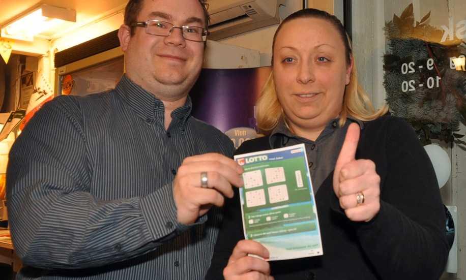 Dan och Sofie Skepphagen äger kiosken där vinstlotten såldes.