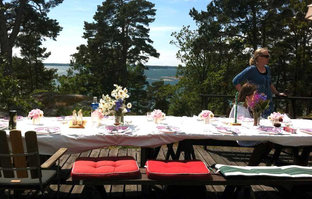 Dukat för fest Midsommar på Ängsö för en Aftonbladetläsare.