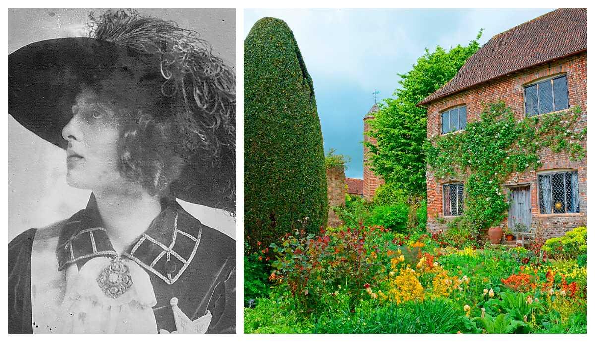 Vita Sackville-West skapade slottsträdgården Sissinghurst. På bilden syns det så kallade sovrumshuset.